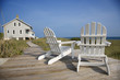 Chairs on Deck Facing Ocean - 20447622