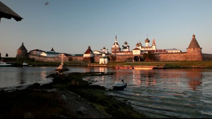 Russia, Solovetsky monastery in on the b Kareliya.