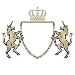 Wappen mit Einhorn