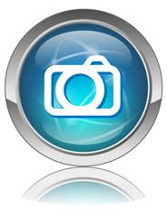 Bouton Web PHOTOS (Photographies Appareil Images Voir Diaporama)