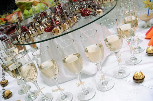 Wedding table background