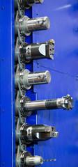 Fräskopf einer CNC Fräsmaschine in Metallindustrie