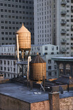 Rooftop Water Towers on NYC Buildings poster