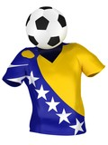 National Soccer Team of Bosnia and Herzegovina | All Teams Colle poster