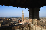 Siena Skyline Viewed From Covered Rooftop poster