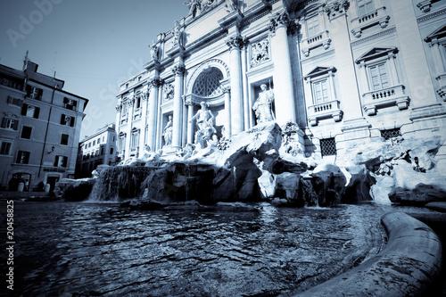 Leinwanddruck Bild Fontaine de trévise Rome