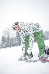Girl Dress Snowboard
