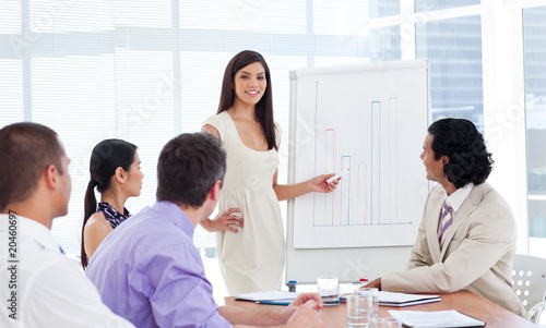 Confident businesswoman doing a presentation
