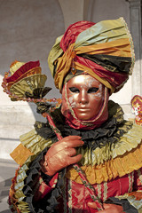 Portrait of a girl disguised for the Carnival in Venice