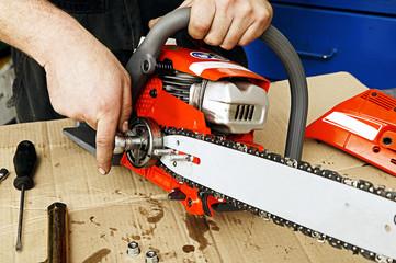Chain saw repair 1