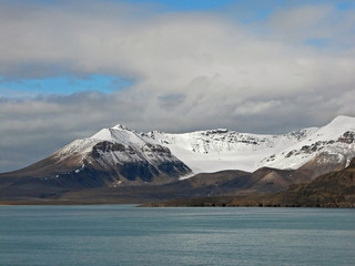 Snow-covered Mountains of Spitsbergen