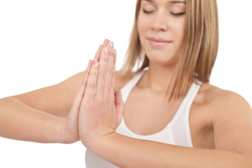 Fitness - Young healthy woman exercise yoga