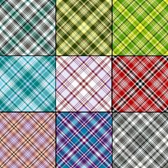 Big set scottish seamless patterns