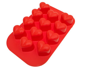 Heart shaped silicone.