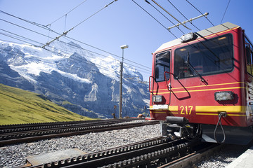 A Swiss train to Jungfraujoch.