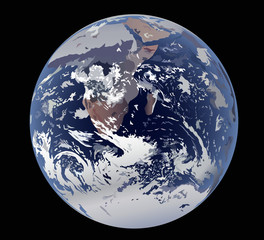 earth isolated on black