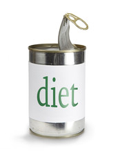 can with a diet label