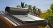 Leinwanddruck Bild - Chauffe-eau solaire.