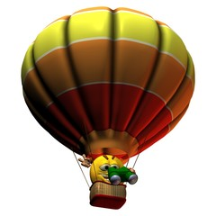 Smilie, der Ballonfahrer