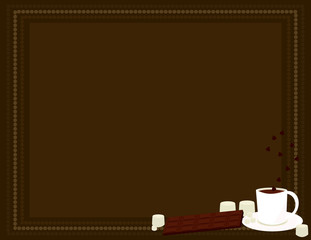 Hot chocolate background 4