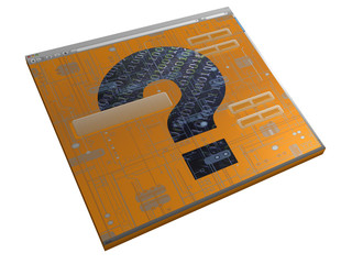 Browserfenster - Fragezeichen - 3D
