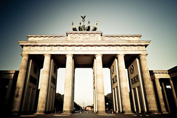 Brandenburger Tor in Berlin - abstrakt