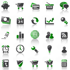 green icon set 2 - business