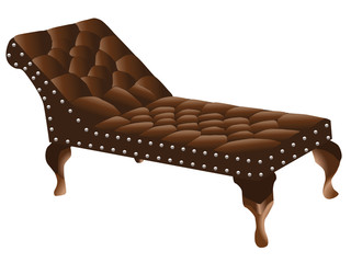 Psychologist's couch vector
