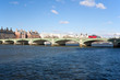 Westminster bridge and a double decker bus in London