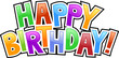 happy birthday graffiti text inscription - 20487871