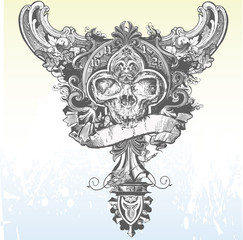 Banner skull apparel design