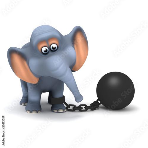 3D Convict Elephant