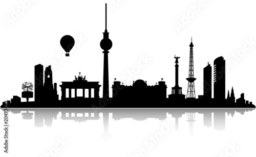 Fototapeta top detailed berlin skyline