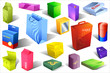 Collection of colorful boxes