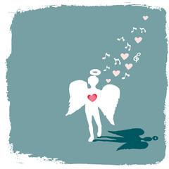 valentine angel singing