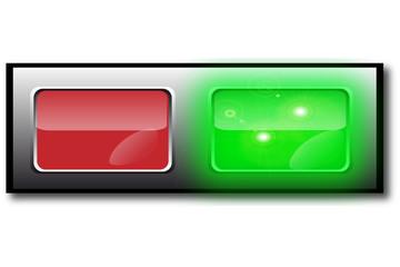 bouton vert rouge marche arret