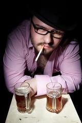 Man with cigerette