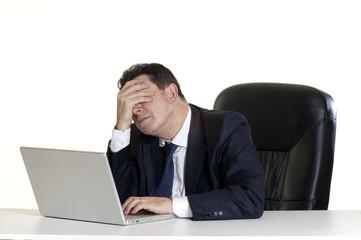 manager stressato e stanco