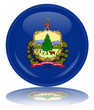 Vermont State Round Flag Button (Vermonter USA America Vector)