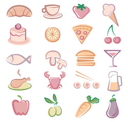 Simple images of food and drinks