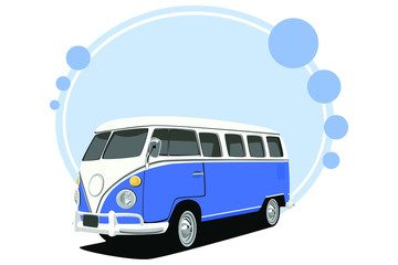 old-fashioned bus vector
