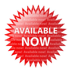 """""""AVAILABLE NOW"""" Marketing Stamp (new release version latest red)"""