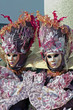 Two ladies in carnival suit, Venice carnival 2010 (vertical)