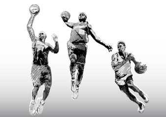 color basketball trio