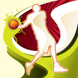roleta: Abstract background with basketball player