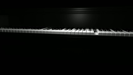 klavier spielen, bewegliche kamera, loop 8 sec.