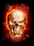 Fototapety Burning skull