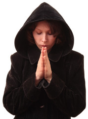 Female praying.