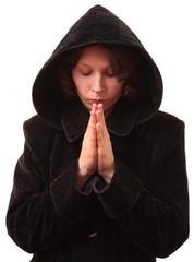 Female praying.