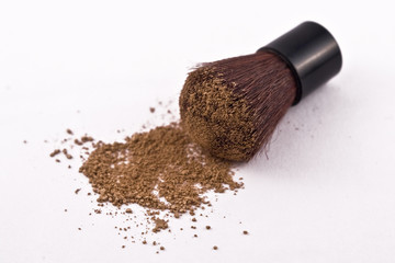 Mica Powder Cosmetics with Brush.